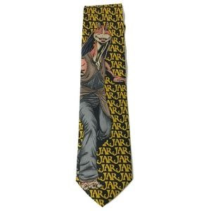 Star Wars Jar Jar Blink Classic Mens Tie,
